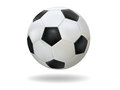 Football realistic soccer ball on white background Royalty Free Stock Image
