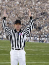 Football Referee Touchdown Royalty Free Stock Photo