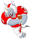 Football rhino Stock Image