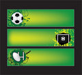 Football and rugby sports banners Stock Image