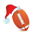 Football Santa Cap Royalty Free Stock Images
