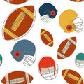 Football seamless pattern Royalty Free Stock Photography