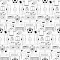 Football  Seamless Pattern Royalty Free Stock Photo