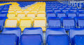 Football seats Royalty Free Stock Photo