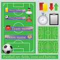 Football set Stock Images