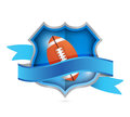Football shield seal illustration design over a white background Royalty Free Stock Photography