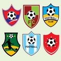 Football Shields Stock Images