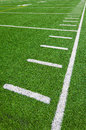 Football side lines yards outdoor stadium beautiful bright sunny day Royalty Free Stock Image