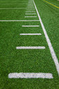 Football side lines yards outdoor stadium beautiful bright sunny day Royalty Free Stock Images