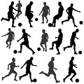 Football silhouette vector isolate on white background Royalty Free Stock Image