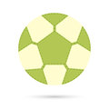Football soccer ball icon.