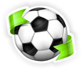 Football (soccer) ball with ribbon Stock Photos