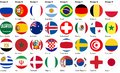 Football soccer balls made from flags Royalty Free Stock Photo
