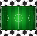 Football soccer  field Stock Image