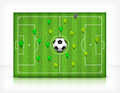 Football (soccer) field with ball Stock Image