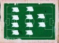 Football (Soccer Field) formation , 4-4-2 Stock Images