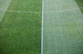 Football soccer field grass green natural of a Royalty Free Stock Image