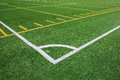 Football and soccer field lines on artificial turf Royalty Free Stock Photography