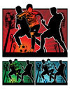 Football soccer  illustration Stock Image