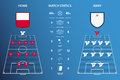 Football or soccer match statistics infographic. Flat design. Vector Illustration.