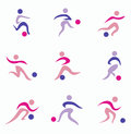 Football, soccer player icons Royalty Free Stock Photo
