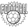Football soccer sketch Stock Images
