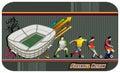 Football soccer vector Royalty Free Stock Photos