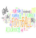Football / Soccer word cloud Royalty Free Stock Image