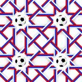 Football banner. Russian colors seamless pattern