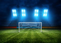 Football Stadium Goal Royalty Free Stock Photo