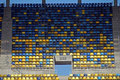 Football stadium seats of a modern arena Royalty Free Stock Photography