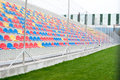 Football stands stadium in bright colours Stock Images