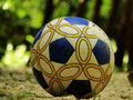 Football on the stone ground for playing Royalty Free Stock Image