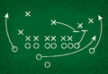 Football Strategy Play Royalty Free Stock Photo