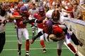 Football tackle blur Royalty Free Stock Photo