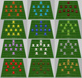 Football Tactic Royalty Free Stock Image