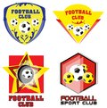 Football Team or Soccer Club Logo Set Royalty Free Stock Photo
