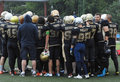 Football team spartians rejoice russia podolsk city july just after friendship game spartans vs vityazi in moscow region Royalty Free Stock Photo