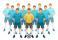 Football team on a white background Royalty Free Stock Photos