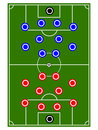 Football teams formation circles illustration Stock Image