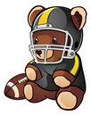 Football Teddy Bear Stock Photography