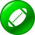 Football vector button Stock Images