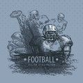 Football vector illustration art Stock Images
