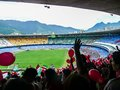 Football watching a game in the maracana stadium in rio de janeiro brazil Royalty Free Stock Image