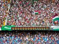 Football watching a game in the maracana stadium in rio de janeiro brazil Royalty Free Stock Photo