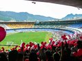 Football watching a game in the maracana stadium in rio de janeiro brazil Royalty Free Stock Photography