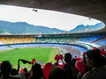 Football watching a game in the maracana stadium in rio de janeiro brazil Stock Photography
