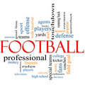 Football Word Cloud Concept Stock Photo
