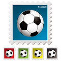 Football world stamp Stock Photo