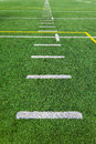 Football yards lines taken center not side lines Royalty Free Stock Images